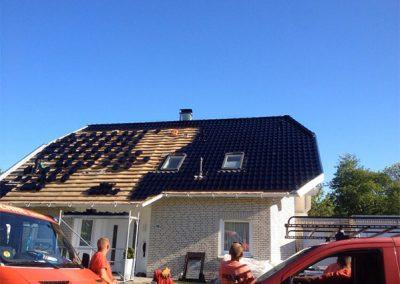 Neudecken eines Dachs