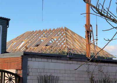 Konstruktion des Dachstuhls